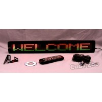 Affordable LED NS-500RG2 Tri Color Programmable Message Sign, 4 x 26
