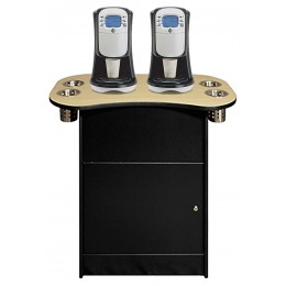 All State OCS250BLK Office Coffee Stand with Shelf Black