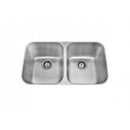 Amerisink AS101 Deluxe Line Undermount Stainless Steel Double Sink