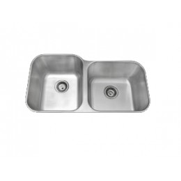 Amerisink AS102 Deluxe Line Undermount Stainless Steel Double Sink