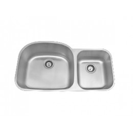 Amerisink AS104 Deluxe Line Undermount Stainless Steel Double Sink