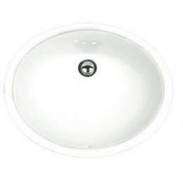 Amerisink AS204 Undermount White Porcelain Bathroom Sink