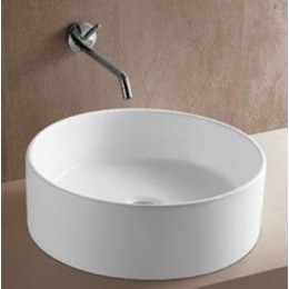 Amerisink AS 211 Vitreous China Round Art Basin Bathroom Sink White