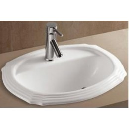 Amerisink AS221 Top Mount Porcelain Bathroom Sink White