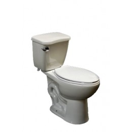 Amerisink AS407 High Efficiency Single Flush Elongated Toilet Biscuit
