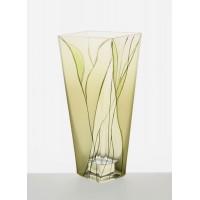Badash Crystal Evergreen 9 inch Square Vase
