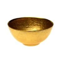 Badash Crystal D251G Glamour Gold 6 inch Round Bowl