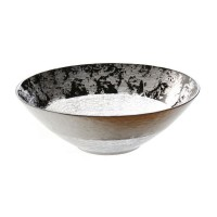 Badash Crystal D262 Leopard Black and Silver 12 inch Bowl