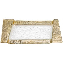 Badash Crystal EV50G Gold Section 7 x 13 inch Tray