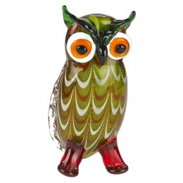 Badash Crystal J512 Art Glass Owl 8