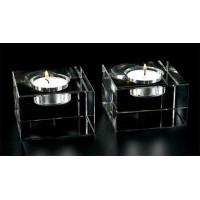 Badash Crystal Pair of Dakota T Lite Block Candlestick Holders