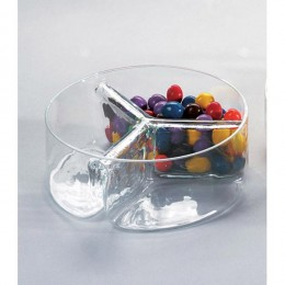 Badash Crystal Three-Sectional Dish