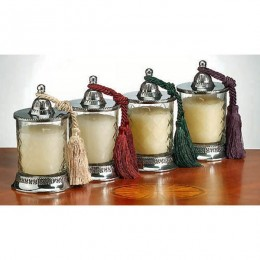 Badash Crystal Four Covered Jar Candleholders