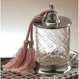 Badash Crystal Jar with Tassle Candleholder