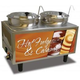 BenchMark Hot Fudge / Caramel Warmer w/ 2 Ladles / Lids