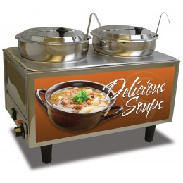BenchMark Soup Station Warmer w/ 2 Ladles / Lids