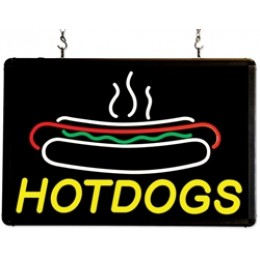 Benchmark USA Ultra-Bright Merchandising Sign Hotdogs