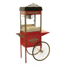 Benchmark USA Street Vendor 6oz Popcorn Machine w/Antique Trolly
