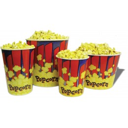 Benchmark USA 130 oz Popcorn Tubs 50/CS