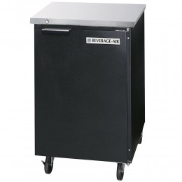 Beverage Air BB24HC-1-B Black Back Bar Refrigerator with 1 Solid Door 24