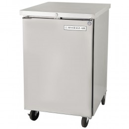 Beverage Air BB24HC-1-S Stainless Steel Back Bar Refrigerator with 1 Solid Door 24