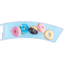 BriteVision Blue Donut 8oz Insulating Hot Cup Coffee Sleeve 1200/CS