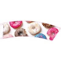 BriteVision White Donut 8oz Insulating Hot Cup Coffee Sleeve 1200/CS