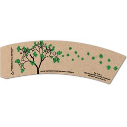 BriteVision Eco Tree 12-20 Oz Insulating Hot Cup Coffee Sleeve 1200/CS