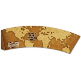 BriteVision Eco World 12-20 Oz. Insulating Hot Cup Coffee Sleeve