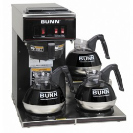 Bunn VP17-3 Low Profile Pourover Coffee Brewer w/ 3 Warmers