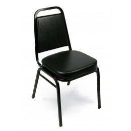 Carroll Chair 1-110-000 Taper Back Stack Chair Black Vinyl