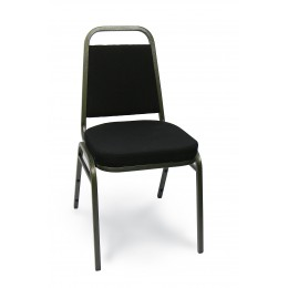 Carroll Chair 1-110-110 Taper Back Stack Chair Black Fabric