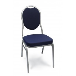 Carroll Chair 1-151-120 Hourglass Back Stack Chair Navy Fabric