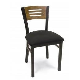 Carroll Chair 2-371 GR1 Three Slat Wooden Back Insert Chair