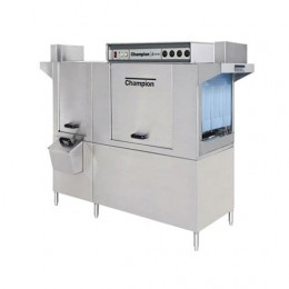 Champion 76DRPW E-Series High Temperature Rack Conveyor Single Tank Dual Rinse Prewash Energy Star Gas