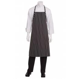 Chef Works A100BCS0  Black Chalk Stripe English Chef's Apron
