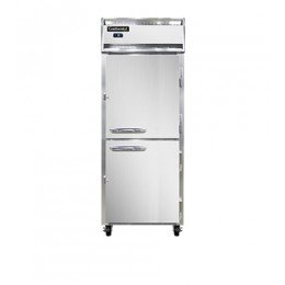 Continental 1FE-SA-PT-HD Stainless Steel Exterior Half Door Extra Wide Pass Through Freezer 29