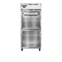 Continental 1RXS-GD-HD Glass Half Door Shallow Depth Extra Wide Reach In Refrigerator 36.25
