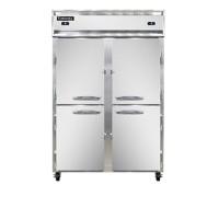 Continental DL2RF-SA-HD Stainless Steel Exterior Designer Line Dual Temperature Half Door Reach In Refrigerator/Freezer 52