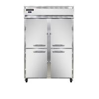Continental 2RS-HD Half Door Shallow Reach In Refrigerator 52