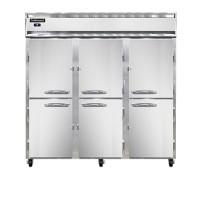 Continental DL3RFF-SA-PT-HD Stainless Steel Exterior Designer Line Dual Temperature Half Door Pass Through Refrigerator/Freezer 78