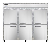 Continental 3RE-PT-HD Half Door Extra Wide Pass Through Refrigerator 86