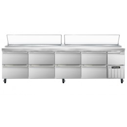 Continental CPA118-D Pizza Prep Table with Eight Drawers 118