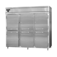 Continental DL3WE-SA-HD Stainless Steel Exterior Designer Line Extra Wide Half Door Reach In Warmer 85.5