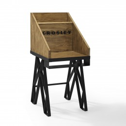 Crosley CF1105A-NA Brooklyn Turntable Stand Antique Distressed Natural Wood
