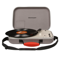 Crosley CR8016A-GY Messenger Portable Turntable Gray