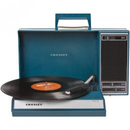 Crosley CR6016A-BL Spinnerette USB Turntable Blue