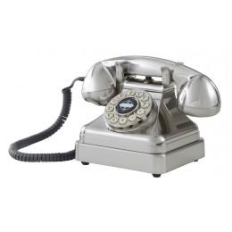 Crosley CR62-BC Kettle Classic Desk Phone Brushed Chrome