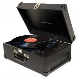 Crosley CR6249A-BK Deluxe Portable Keepsake USB Turntable Black