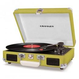 Crosley CR8005D-GR Cruiser Deluxe BluetoothTurntable Green Vinyl